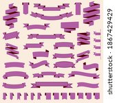 pink ribbons set. banner.... | Shutterstock .eps vector #1867429429