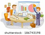 illustration of business chart | Shutterstock . vector #186743198