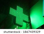 Glowing Pixel Cross Of Led...