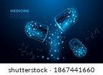 pills. abstract polygonal...   Shutterstock .eps vector #1867441660