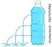 water pressure  liquid  fluid....   Shutterstock .eps vector #1867454986