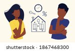 a couple of black people are... | Shutterstock .eps vector #1867468300