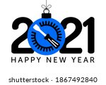 2021 happy new year. fix new... | Shutterstock .eps vector #1867492840