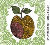 apple pattern vector... | Shutterstock .eps vector #186751184