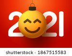 greeting card for 2021 new year ... | Shutterstock .eps vector #1867515583