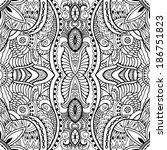 abstract tribal ethnic...   Shutterstock . vector #186751823