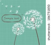 Vector Dandelion Background