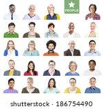 portrait of multiethnic...   Shutterstock . vector #186754490