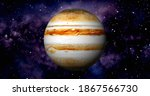 Jupiter Planet On Space With...