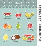 vector illustration fruit of... | Shutterstock .eps vector #186756896