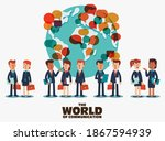 young business men and business ... | Shutterstock .eps vector #1867594939