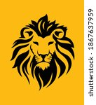 beautiful face of the lion... | Shutterstock .eps vector #1867637959