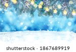 christmas ornaments background... | Shutterstock . vector #1867689919