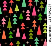 colorful pine trees seamless... | Shutterstock .eps vector #1867693279