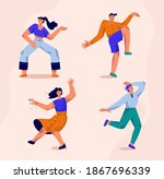 dancers set isolated persons.... | Shutterstock .eps vector #1867696339
