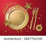 Christmas Table Setting  Gold...
