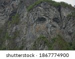 Troll Face On A Cliff Of The...