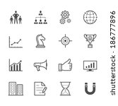 business and finance icons | Shutterstock .eps vector #186777896