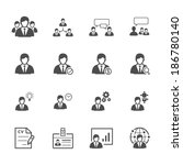 management and human resource... | Shutterstock .eps vector #186780140