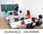 young teacher teaching... | Shutterstock . vector #186783848