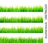 fresh spring green grass... | Shutterstock .eps vector #186786263