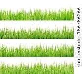 fresh spring green grass... | Shutterstock .eps vector #186786266