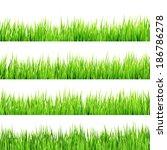 green grass isolated on white...   Shutterstock .eps vector #186786278