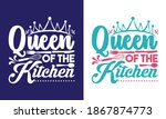queen of the kitchen printable...   Shutterstock .eps vector #1867874773