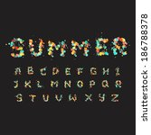 alphabet letters consist of... | Shutterstock .eps vector #186788378