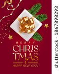 merry christmas and happy new... | Shutterstock .eps vector #1867898293