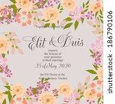 wedding invitation | Shutterstock .eps vector #186790106