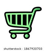 shopping cart icon isolated on... | Shutterstock .eps vector #1867920703