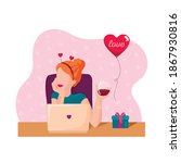 st.valentine s day   young...   Shutterstock .eps vector #1867930816