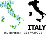 vector mosaic map of italy... | Shutterstock .eps vector #1867939726