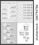 collection infographic number...   Shutterstock .eps vector #186794786