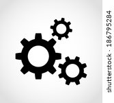 gear icon isolated on white...   Shutterstock .eps vector #186795284