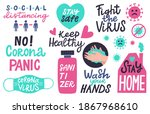 corona pandemic lettering....   Shutterstock . vector #1867968610