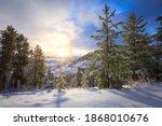 Snowy Sunny Winter Mountain...