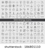 energy and resource icon set.... | Shutterstock .eps vector #186801110