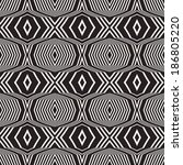 abstract ornate striped... | Shutterstock . vector #186805220