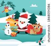 a cartoon vector illustration... | Shutterstock .eps vector #1868054386