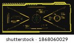 hud frames. futuristic modern... | Shutterstock .eps vector #1868060029