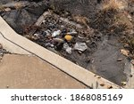 Mud And Trash In A Storm Drain...