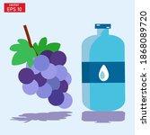 vector illustration of drinking ... | Shutterstock .eps vector #1868089720