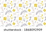 seamless pattern with flowers... | Shutterstock .eps vector #1868092909