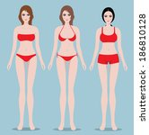 lingerie collection  set ladies ... | Shutterstock .eps vector #186810128