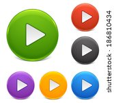 shiny buttons   play | Shutterstock .eps vector #186810434