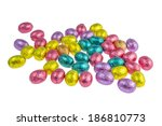 chocolate easter egg wrapped in ... | Shutterstock . vector #186810773