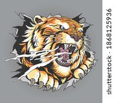 The Tiger's Head Tore Through...