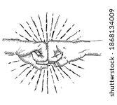 ho hands fist  illustration... | Shutterstock .eps vector #1868134009